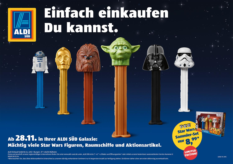 Motiv Starwars - Enfach Einkaufen, Du Kannst - Kampagne Einfach Einkaufen - Aldi Süd