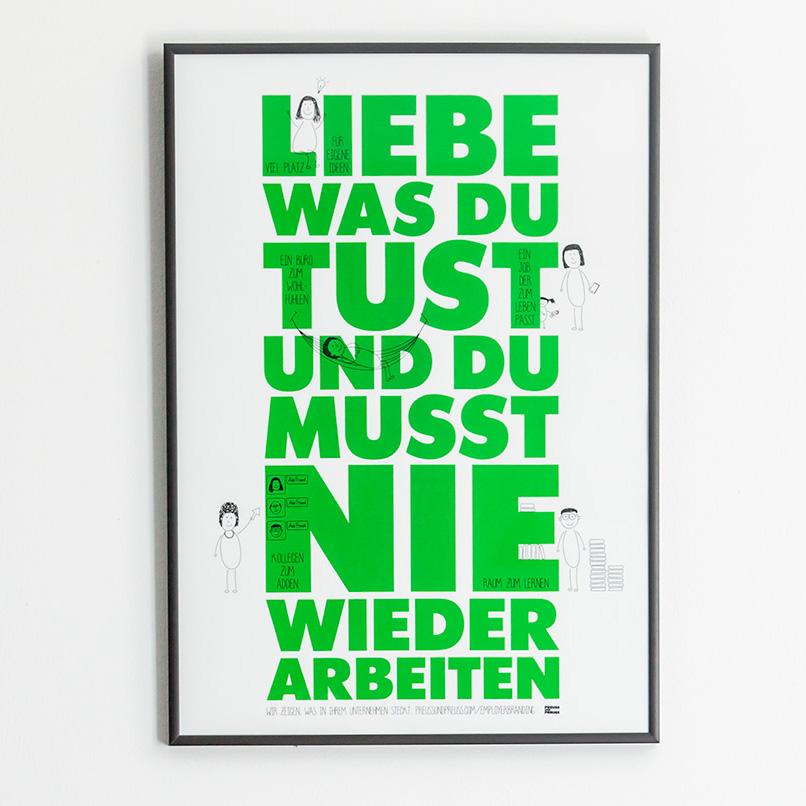 Das Preuss und Preuss Credo als Poster