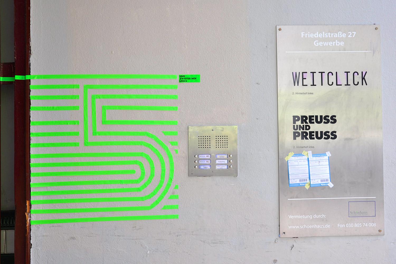 Tape-Art bei der 5-jährigen Preuss und Preuss Agenturjubiläum