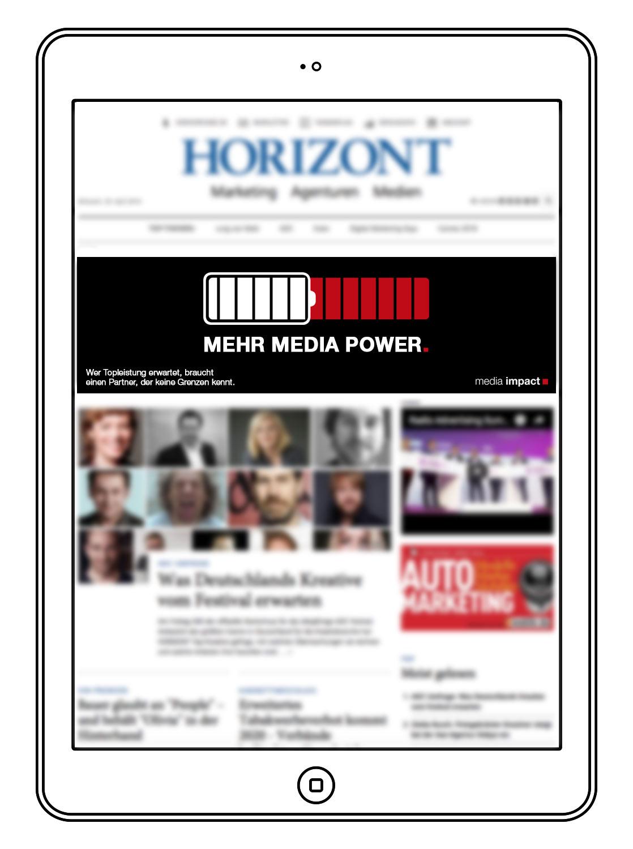 Mehr Media Power - Motiv Batterie - Media Impact