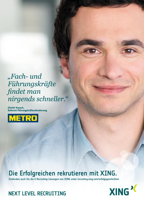 Kampagne Erfolgstories - Bild und Zitat von METRO Mitarbeiter über XING