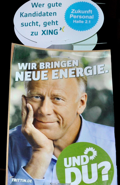Die Grüne Wahlplakat - XING Guerrilla Aktion