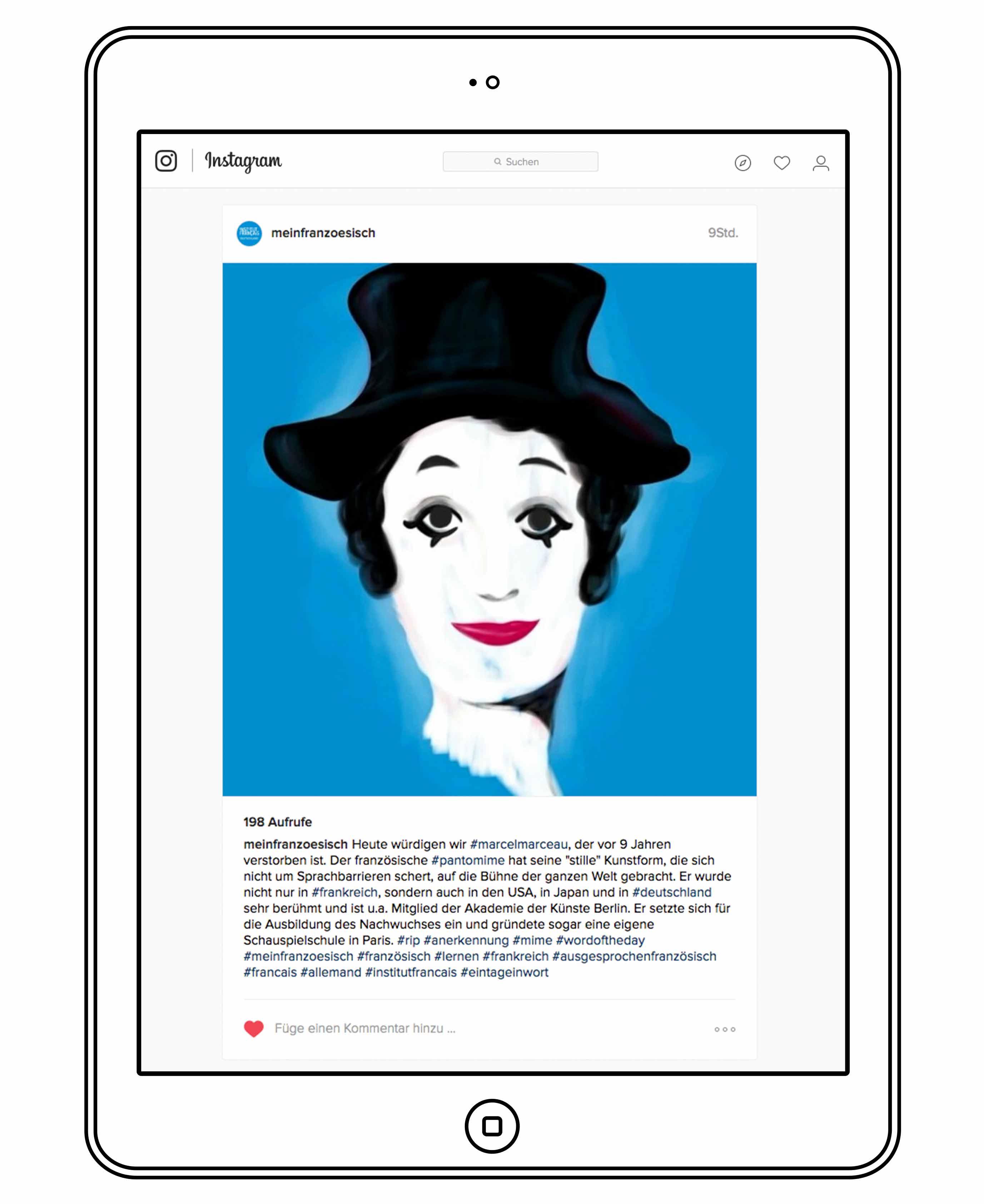 Die Kampagne auf Instagram - Institut Francais