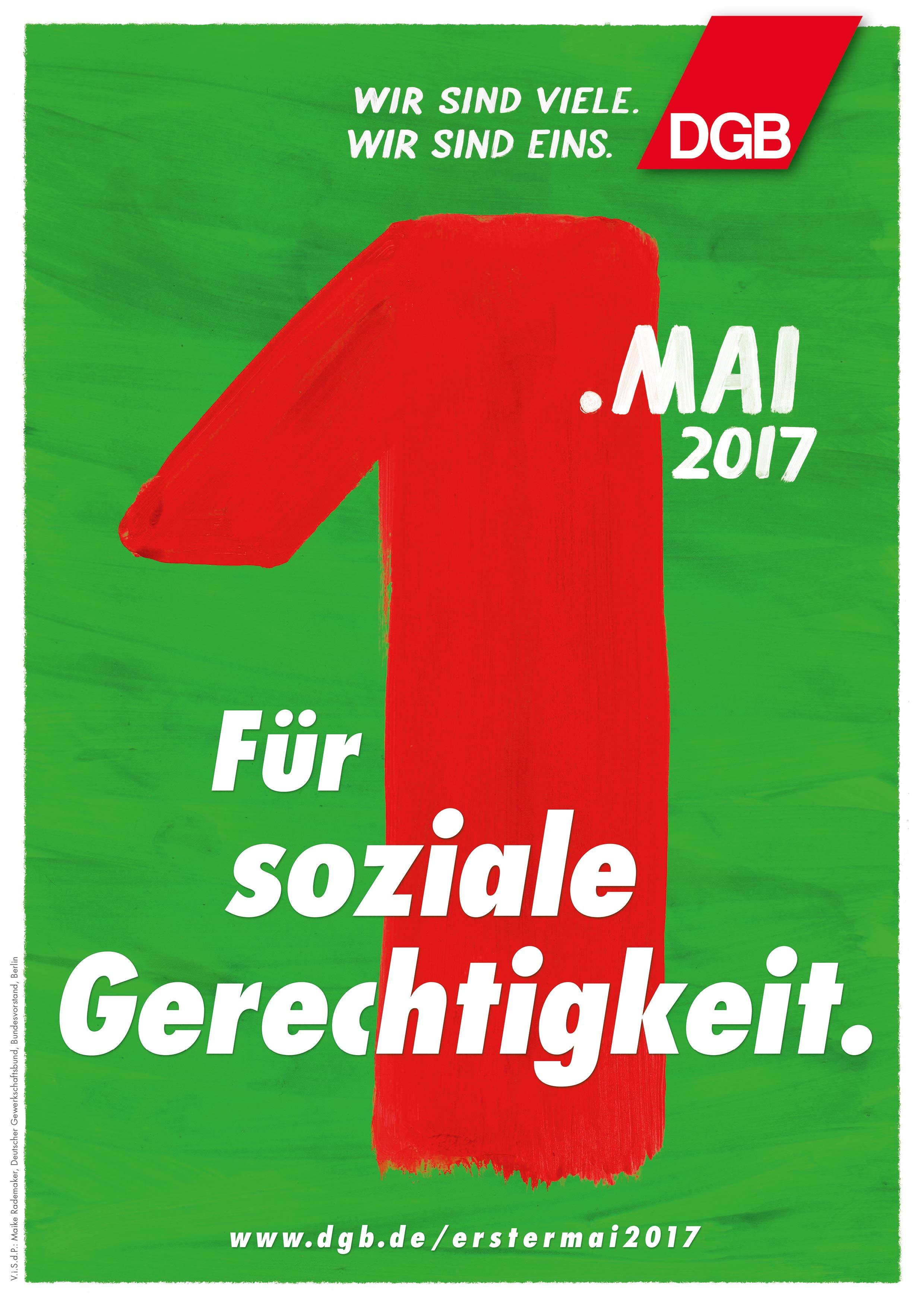 Für soziale Gerechtigkeit - DGB 1. Mai 2017