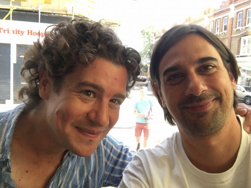 Chefdirigent Robin Ticciati und Michael Preuss