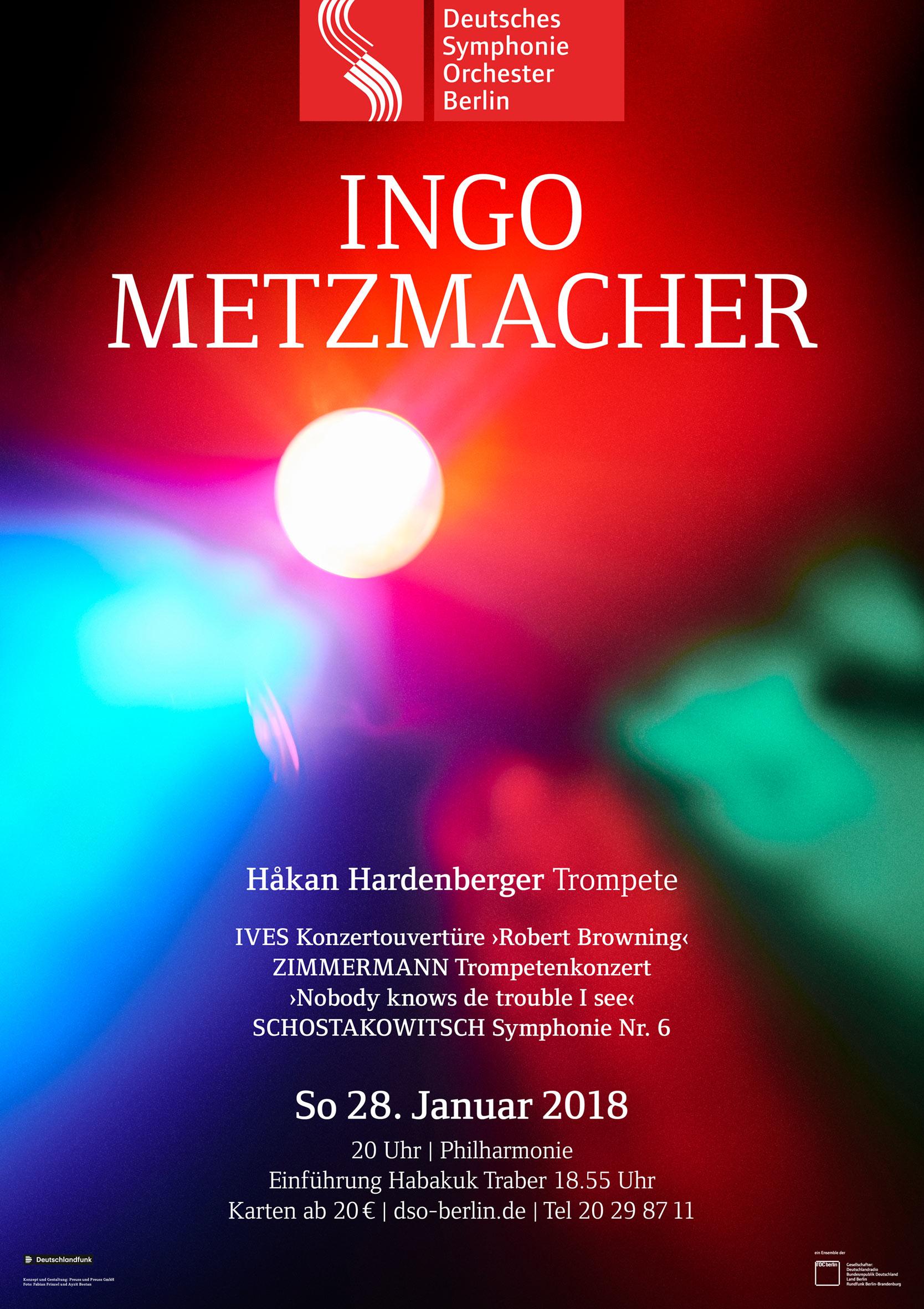 Plakat Konzert Ingo Metzmacher
