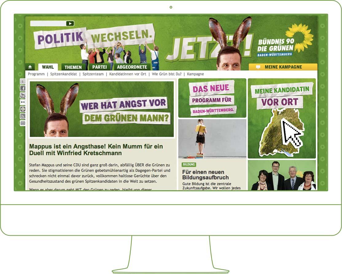 Website Ladtagswahlkampf