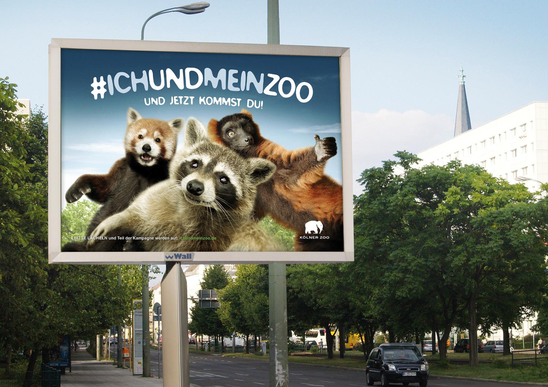 Koelner Zoo Kampagne Tierselfies Umfeld Bären