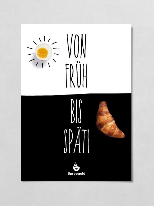 Spreegold Branding Plakate von frueh bis Spaeti