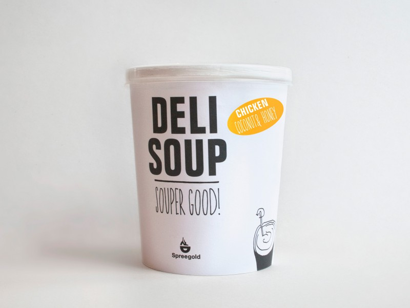 Spreegold Branding Sonstiges Deli Soup Suppenbecher Chicken Coconut Honey Souper Good