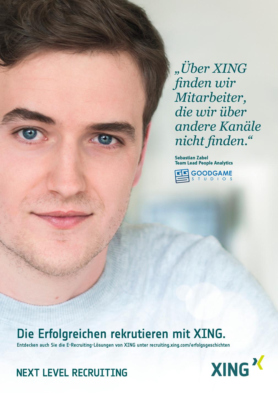 Kampagne Erfolgstories - Bild und Zitat von Goodgame Mitarbeiter über XING
