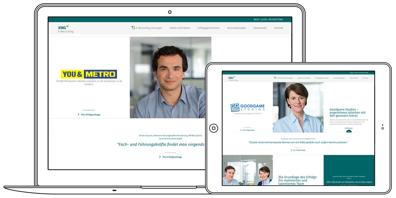 Website Erfolgstories XING