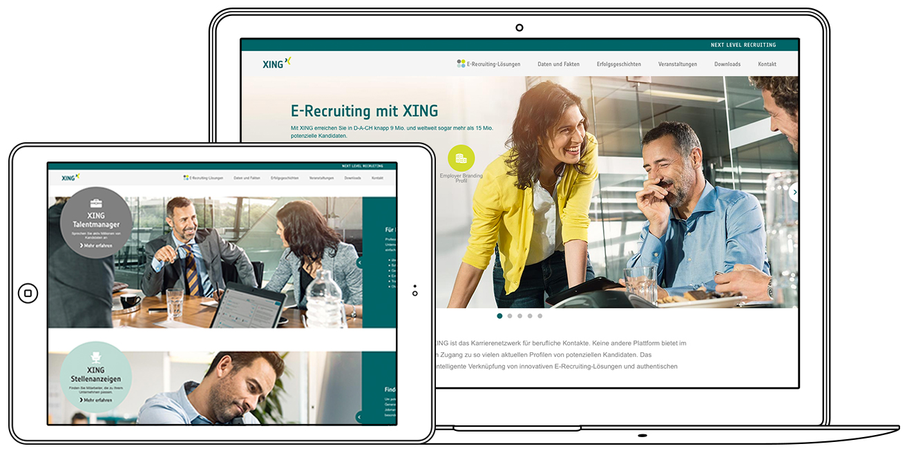 Recruiting Website für XING