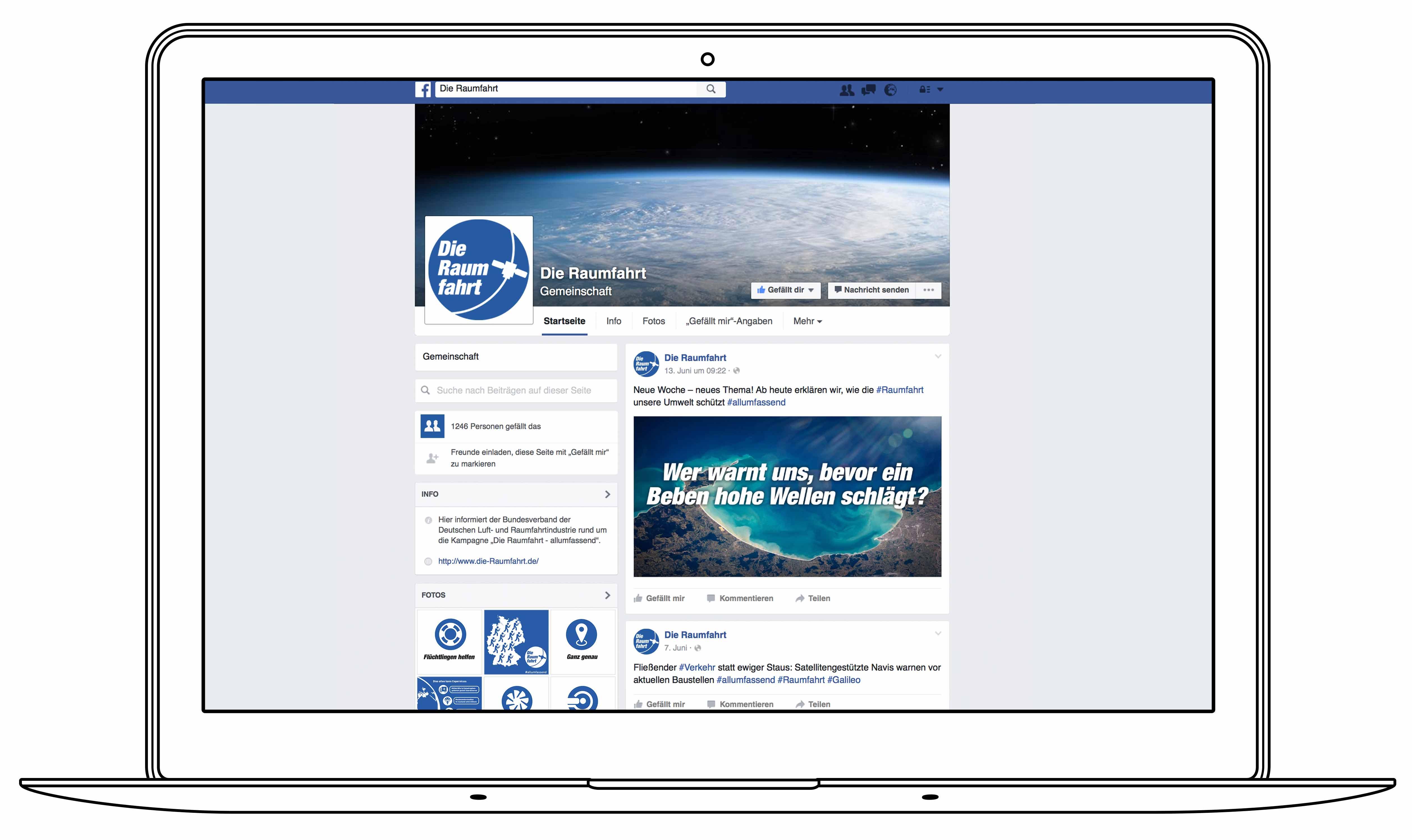 BDLI - Die Raumfahrt - Facebook Page