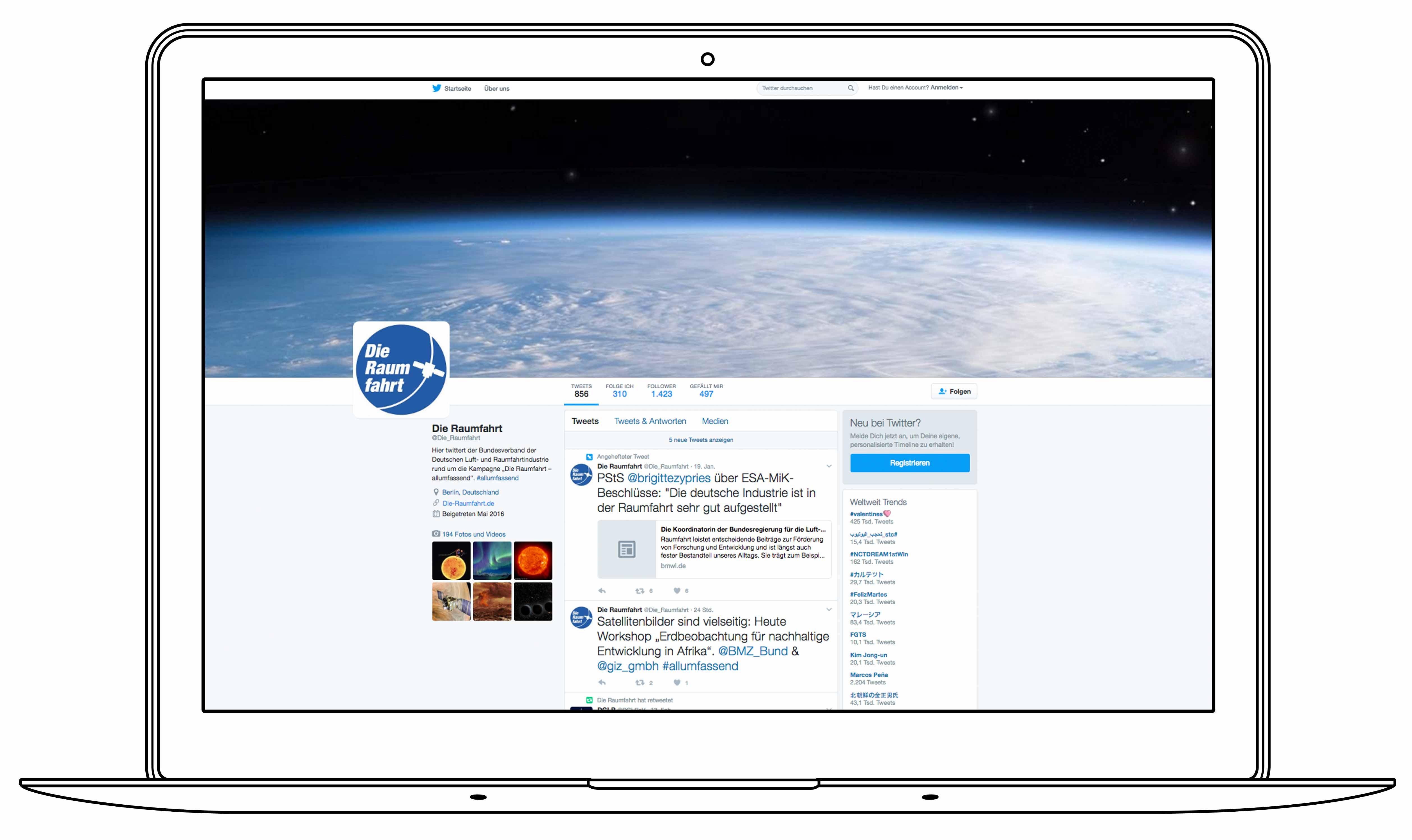 BDLI - Die Raumfahrt - Twitter Profil