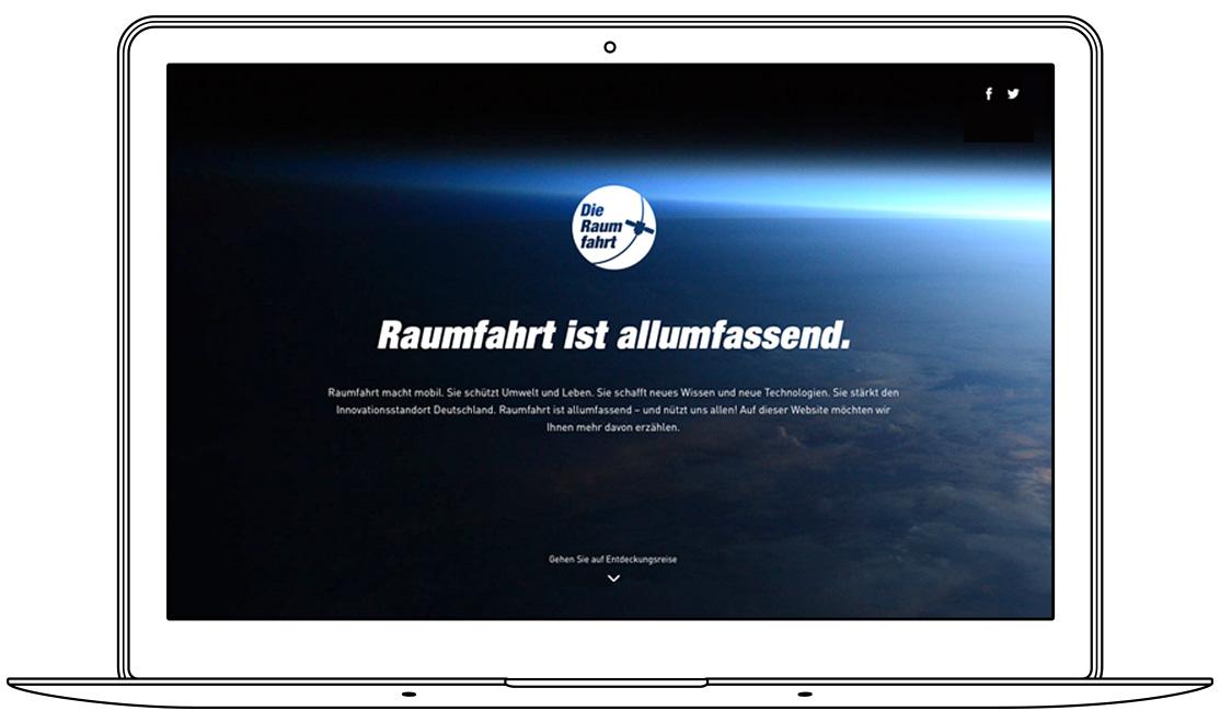 Website - Homepage - Raumfahrt ist allumfassend