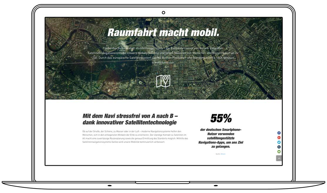 Website - Raumfahrt macht mobil