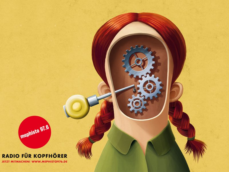 Illustration: Motor im Kopf