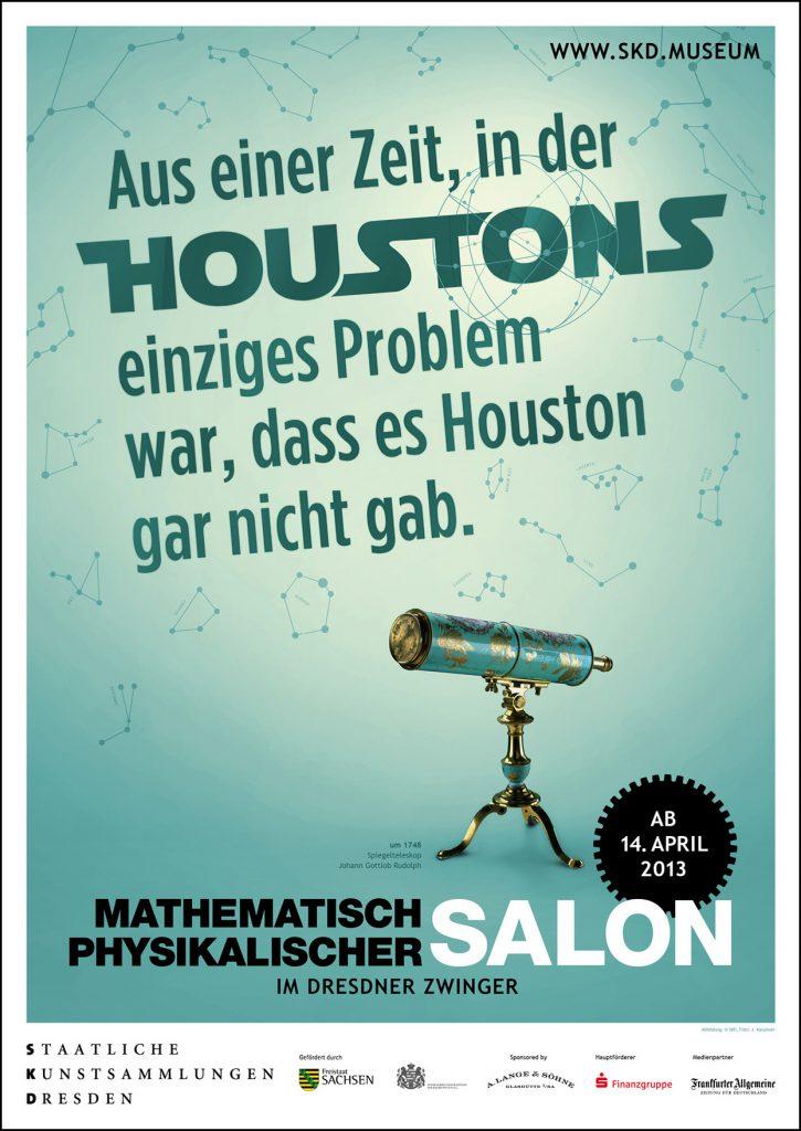 Aus einer Zeit, in der HOUSTONS einziges Problem war, dass es Hourston gar nicht gab - Motiv Teleskop