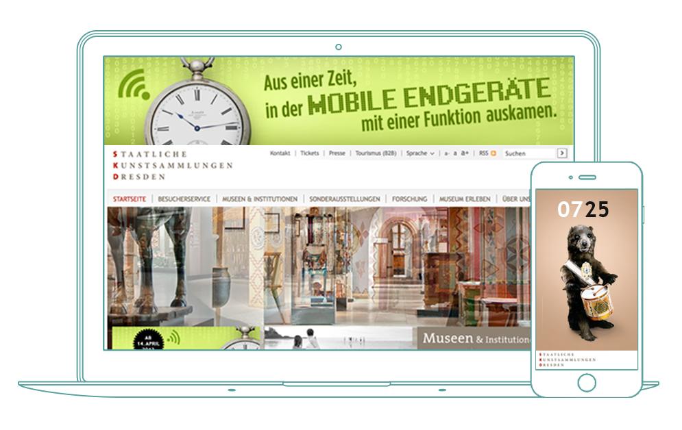 Banner und Wecker-App - SKD - Mathematisch-Physikalischer Salon
