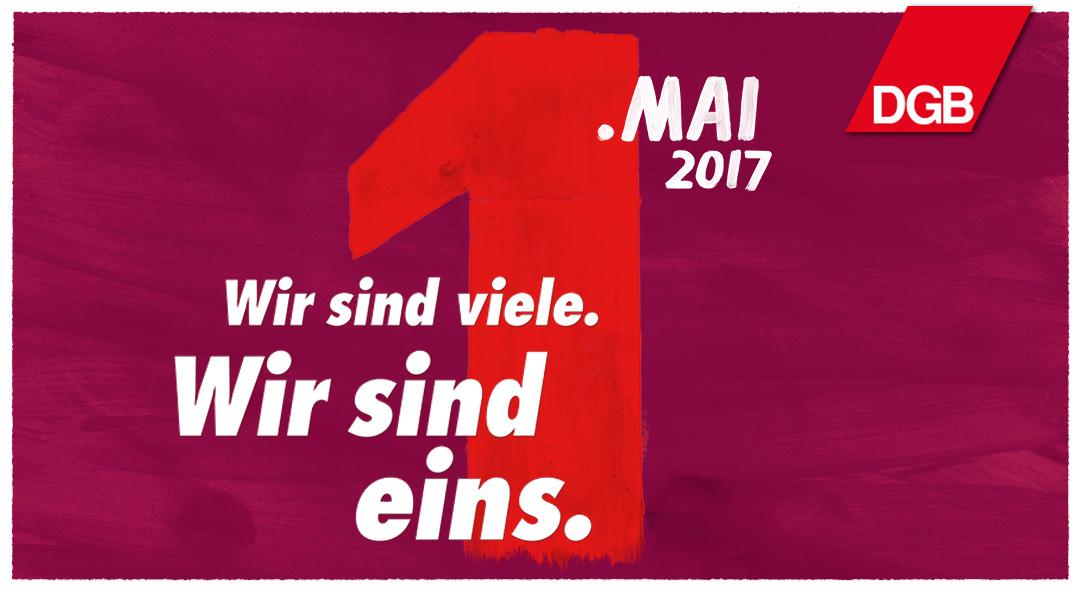 Erste Mai 2017 Plakat - Wir sind viele. Wir sind eins.