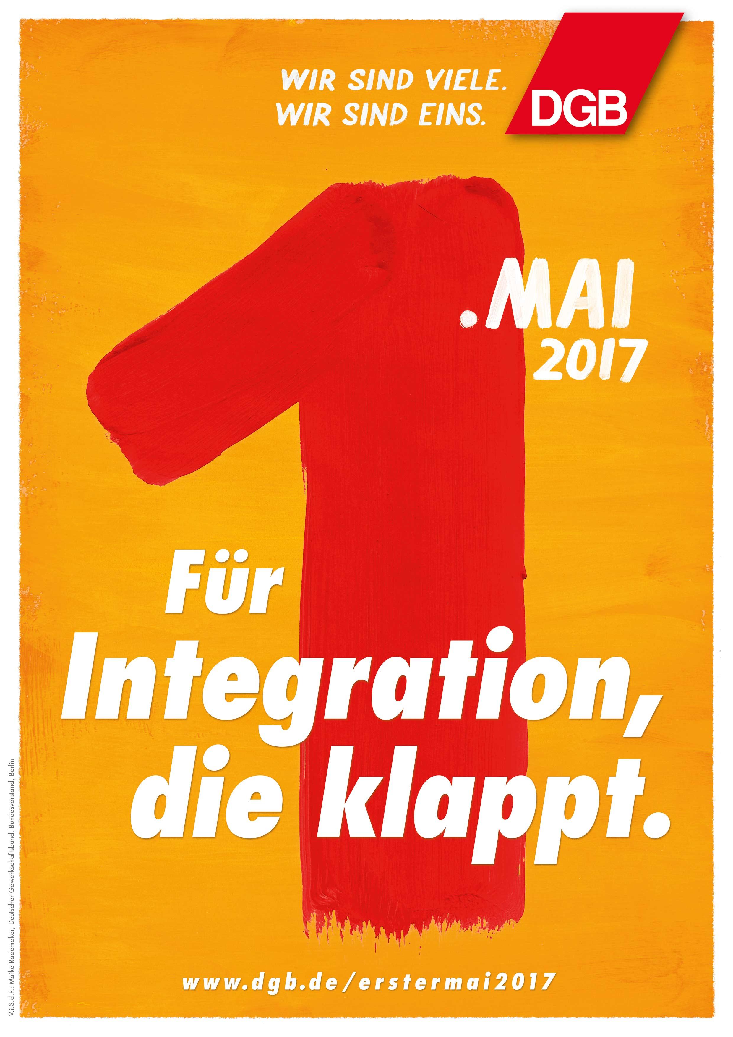 Für Integration, die klappt - DGB 1. Mai 2017