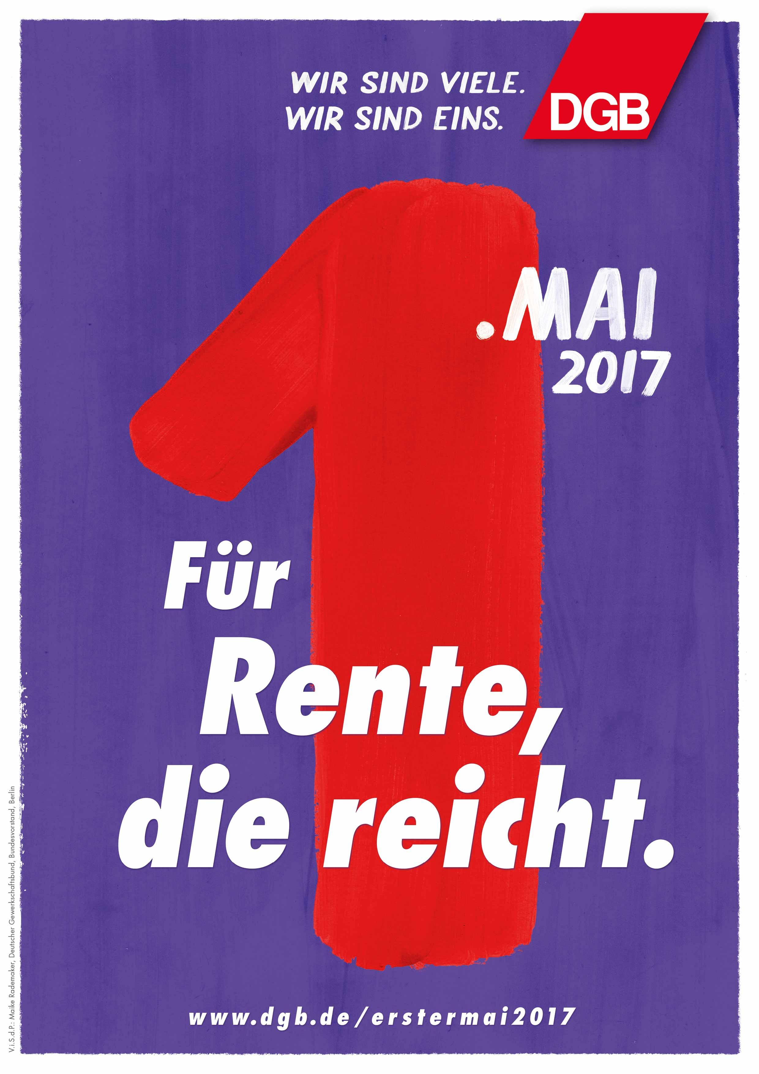 Für Rente, die reicht - DGB 1. Mai 2017