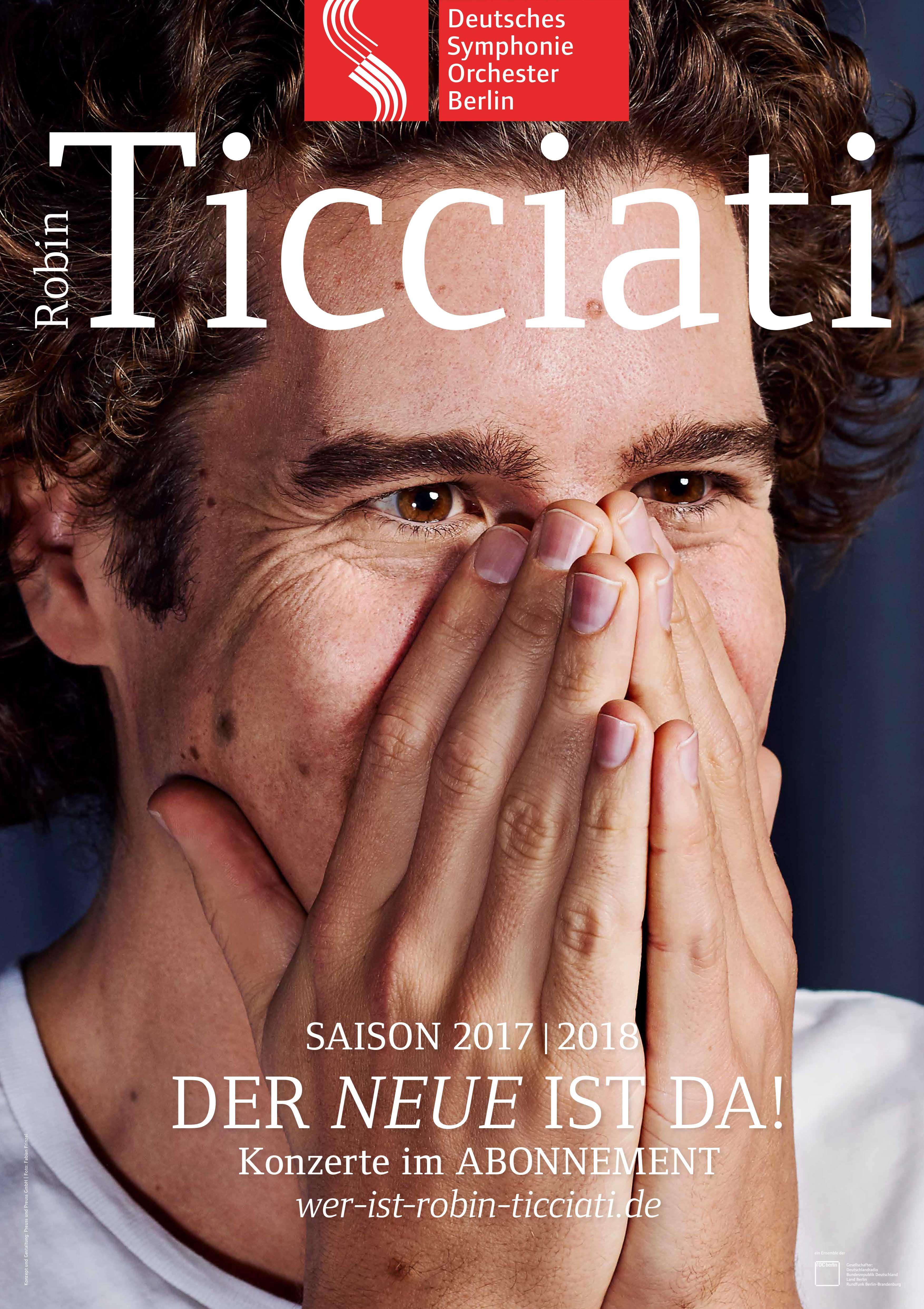 Plakat Chefdirigent Robin Ticciati - Der Neue ist da!