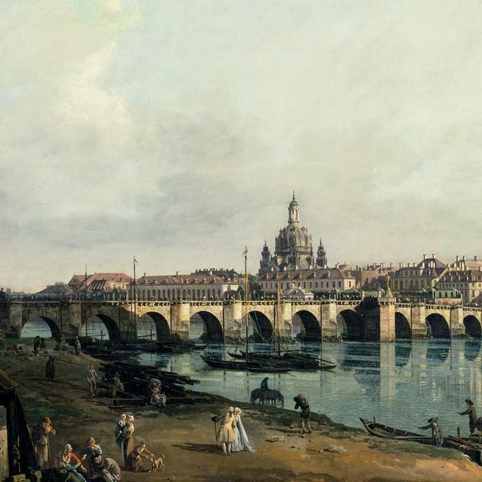 Dresden vom rechten Elbufer unterhalb der Augustusbrücke - Bernardo Bellotto - SKD