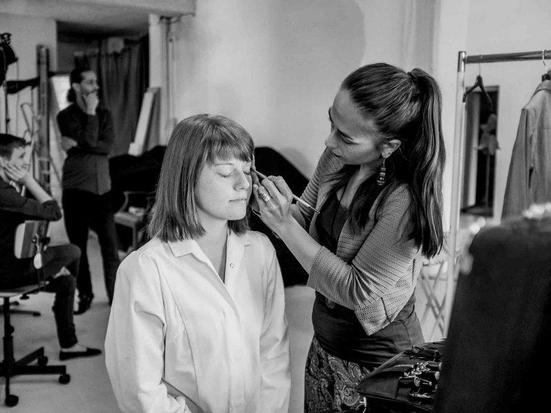 Model beim Hair&MakeUp