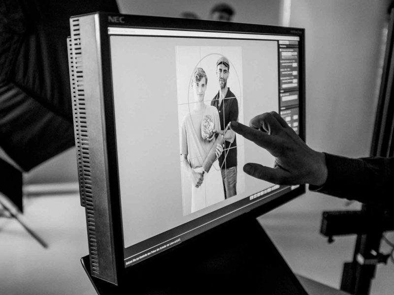 Making of - Bilderansicht am Rechner