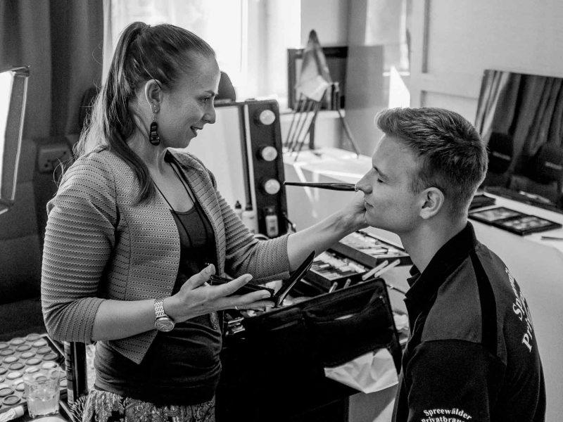 Making of - Model beim Hair&MakeUp