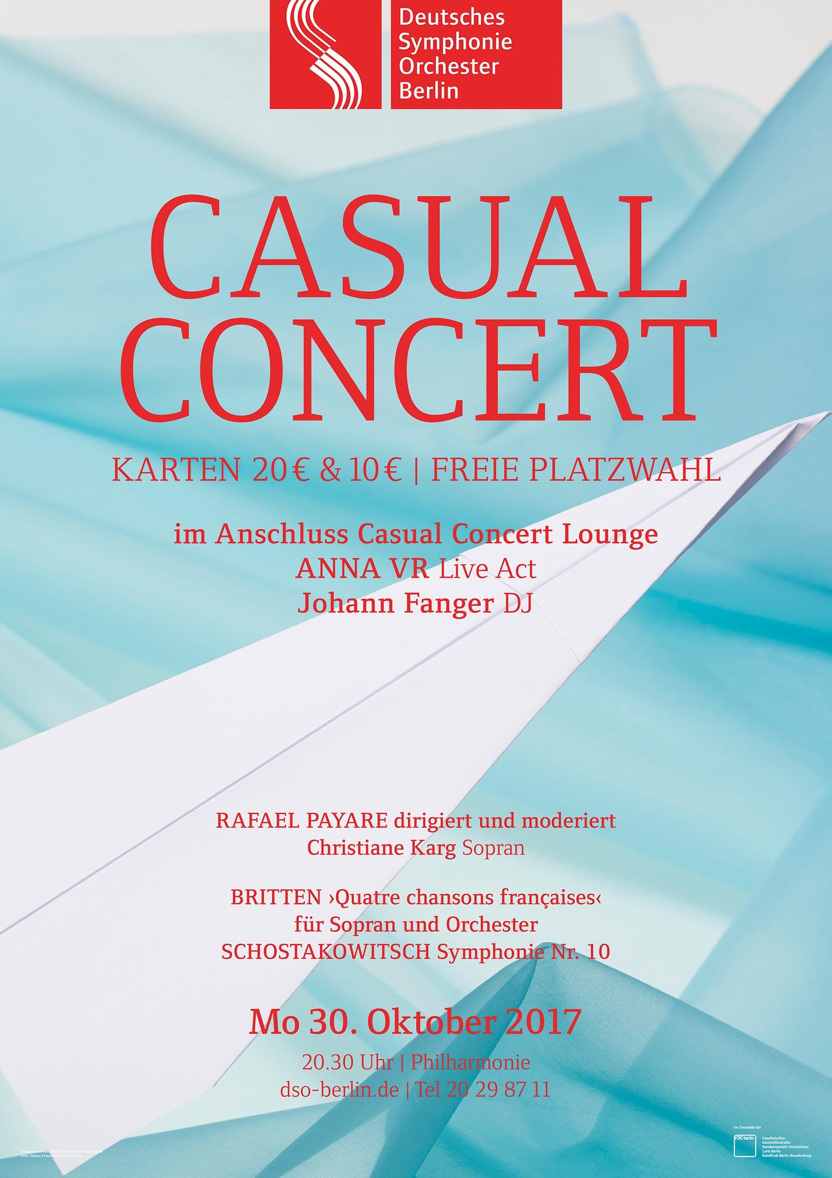 Plakat Casual Concert Paper Plane