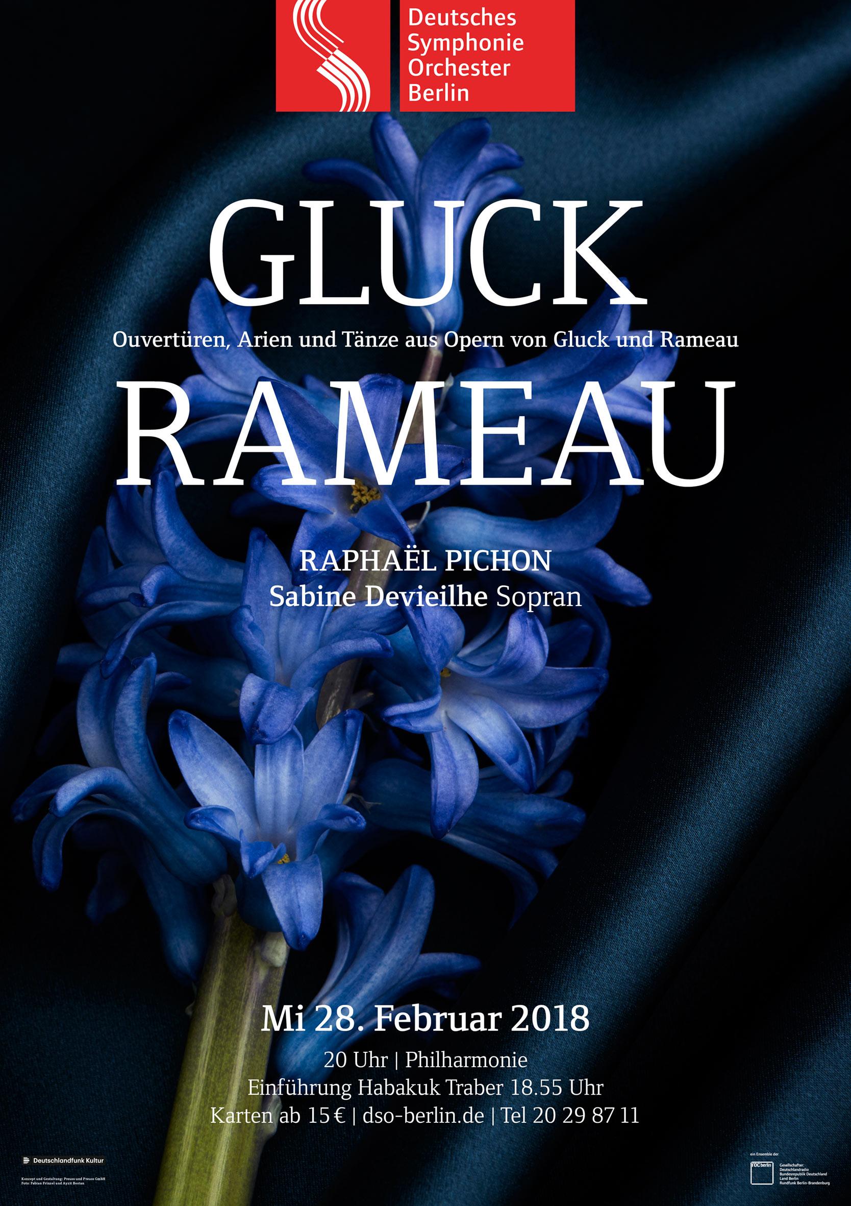 Plakat Konzert Gluck Rameau