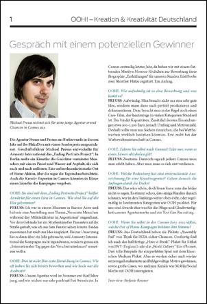 Preuss und Preuss im OOH Magazin