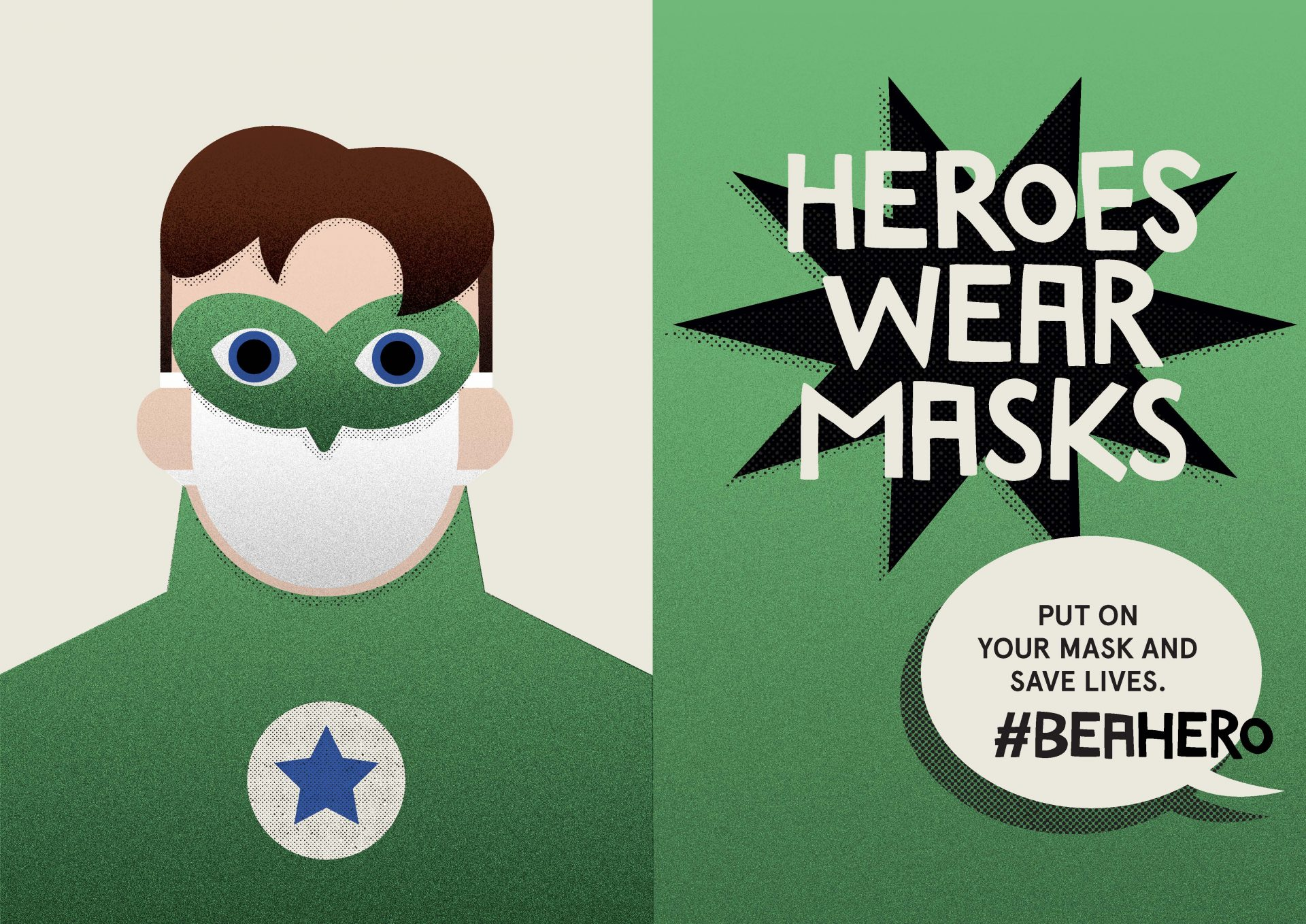 Heroes wear masks. Green lantern.